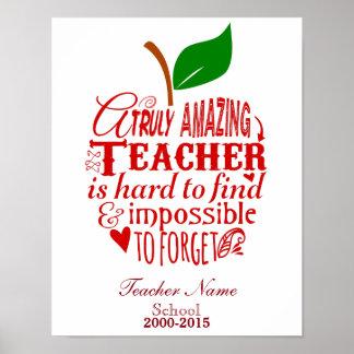 Teacher Thank you Poster print