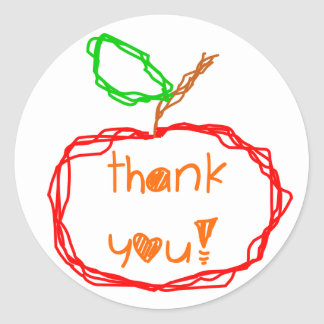 Teacher Thank You Stickers