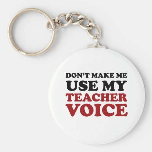 Teacher Voice Basic Round Button Key Ring