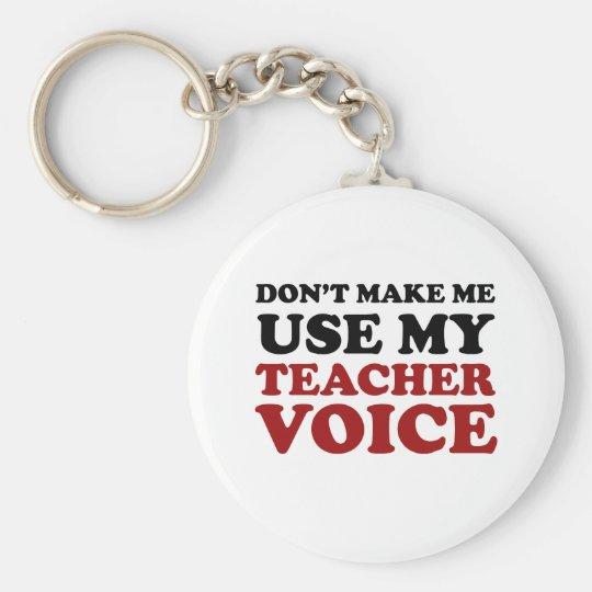 Teacher Voice Key Ring