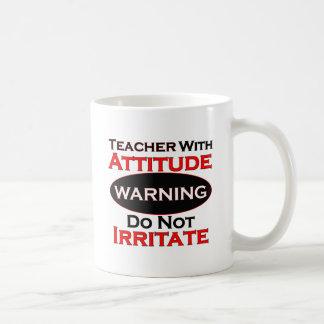 Teacher With Attitude Basic White Mug
