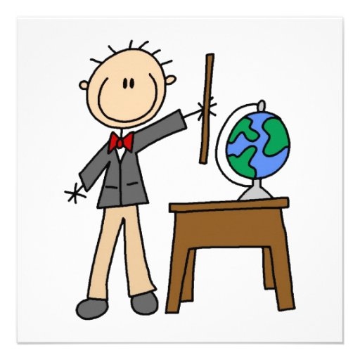Teacher With Globe Personalized Announcement