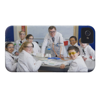 Teacher with his science class, all pupils Case-Mate iPhone 4 case