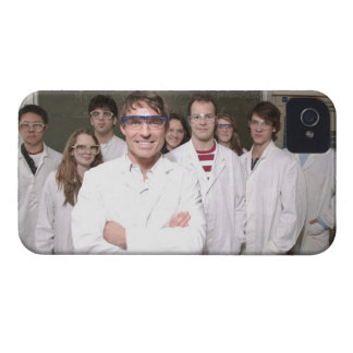 Teacher with students in science class iPhone 4 Case-Mate case