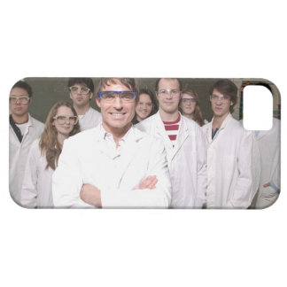 Teacher with students in science class iPhone 5 covers
