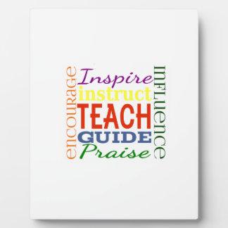 Teacher Word Picture Teachers School Kids Plaque
