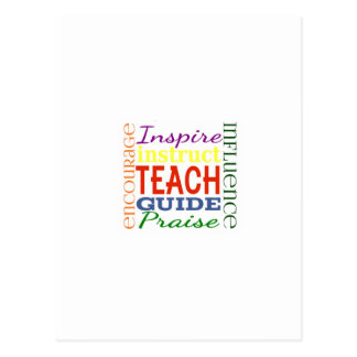 Teacher Word Picture Teachers School Kids Postcard