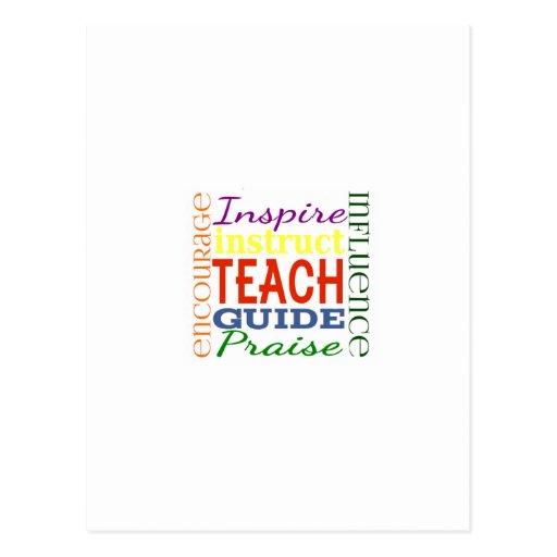 Teacher Word Picture Teachers School Kids Post Cards