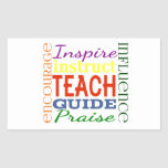 Teacher Word Picture Teachers School Kids Stickers