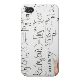 Teacher writing chemical formulae on white board case for iPhone 4