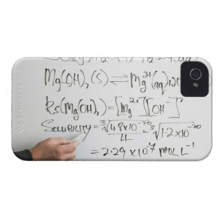 Teacher writing chemical formulae on white board iPhone 4 case