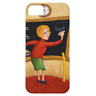 Teacher writing on blackboard and talking iPhone 5 cover
