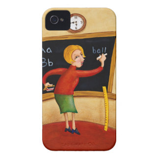 Teacher writing on blackboard and talking Case-Mate iPhone 4 case
