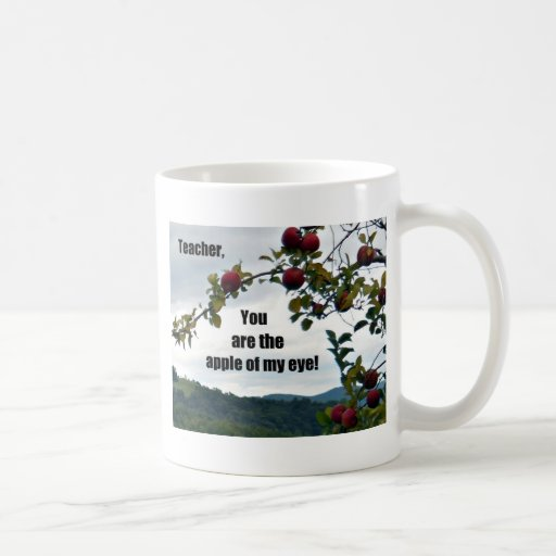 Teacher, you are the apple of my eye! mugs