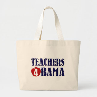 Teachers 4 Obama Large Tote Bag