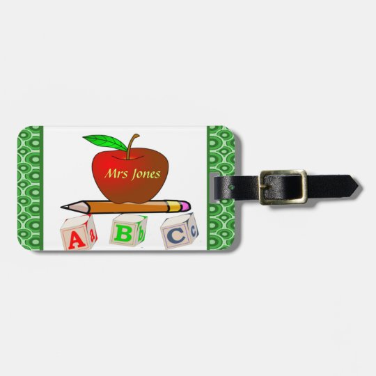 Teachers' ABC's Personalise Luggage Tag