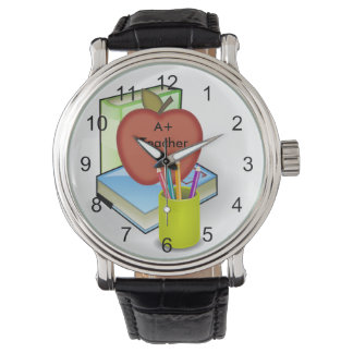 Teachers', Apple Stack of Books Wrist Watch