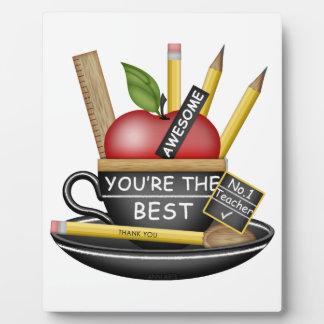 Teacher's Apple Teacup Plaque