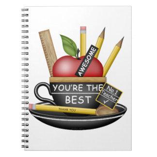 Teacher's Apple Teacup Spiral Notebooks