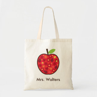 Teacher's Apple Tote Bag