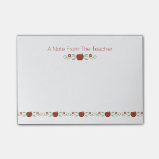 Teacher's Apples Post-It Note Pad