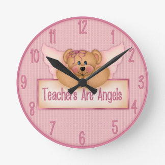 Teachers Are Angels Wall Clock. Round Clock