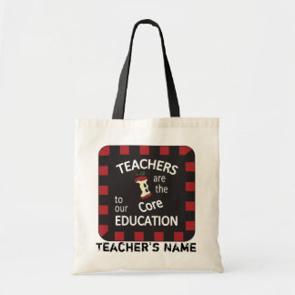 Teachers are the Core to our Education | DIY Name Budget Tote Bag