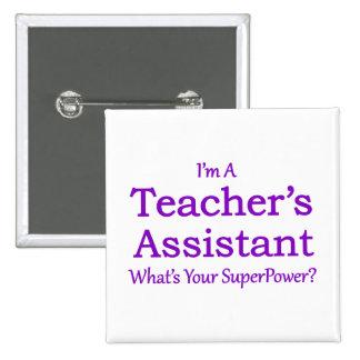 Teacher's Assistant 15 Cm Square Badge
