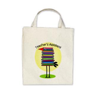 "Teacher's Assistant ""Book Bird"" Design Tote Bag"