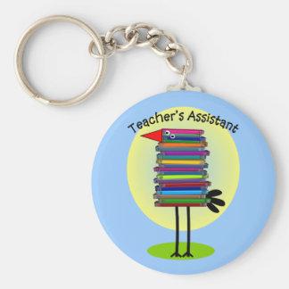 """Teacher's Assistant """"Book Bird"""" Design Key Ring"""