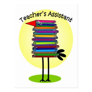 """Teacher's Assistant """"Book Bird"""" Design Postcard"""