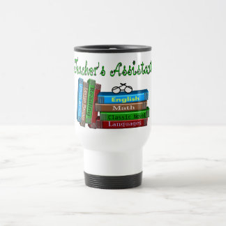 "Teacher's Assistant Gifts ""Stack of Books"" Travel Mug"