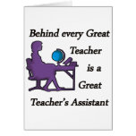 Teacher's Assistant Greeting Card