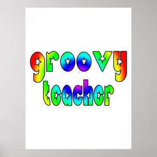 Teachers Birthday Christmas Parties Groovy Teacher Posters