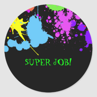 Teachers, Birthday, Faux Neon, Custom Round Sticker