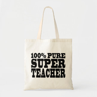Teachers Birthday Parties 100% Pure Super Teacher Tote Bag