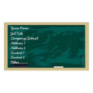 Teacher's Blackboard Profile Card Pack Of Standard Business Cards