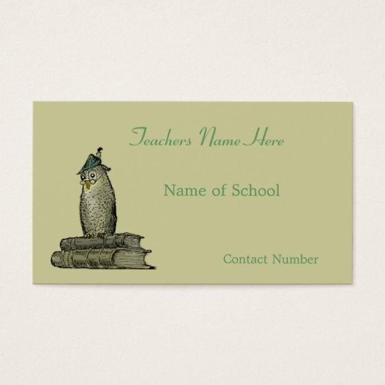 Teachers Business Card