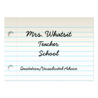 Teacher's Business Profile Card Business Cards