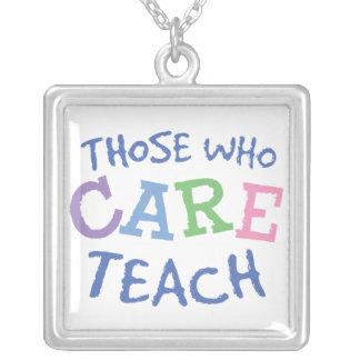 Teachers Care Sterling Silver Pendant
