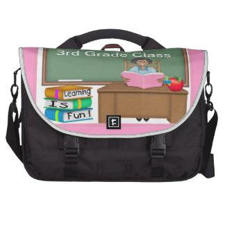 Teacher's Chalk Board Ethnic Female Laptop Bag