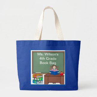 Teacher's Chalk Board Female Book Bag