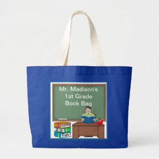 Teacher's Chalk Board Male Book Bag