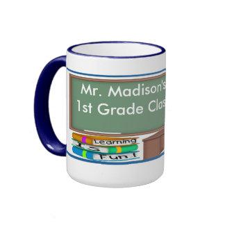 Teacher's Chalk Board Male Mugs
