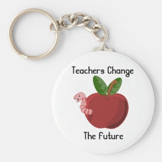 Teachers Change The Future Keychain