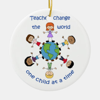 Teachers Change The World Christmas Ornament