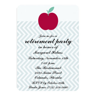 Teachers Chevron Retirement Party Invite