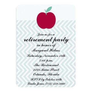 """Teachers Chevron Retirement Party Invite 4.5"""" X 6.25"""" Invitation Card"""
