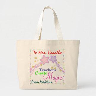 Teachers Create Magic by SRF Jumbo Tote Bag