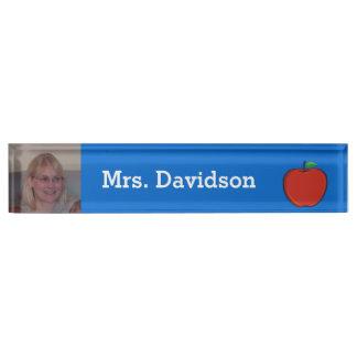 Teacher's Custom Photo Desk Name Plate
